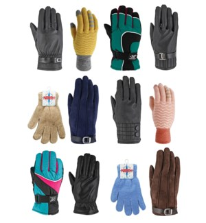Women's Winter Gloves Mix - 12pcs