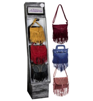 Fringe Crossbody Bags Shipper - 24pcs