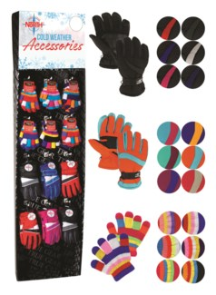 Kids Gloves Assortment Shipper - 72pcs