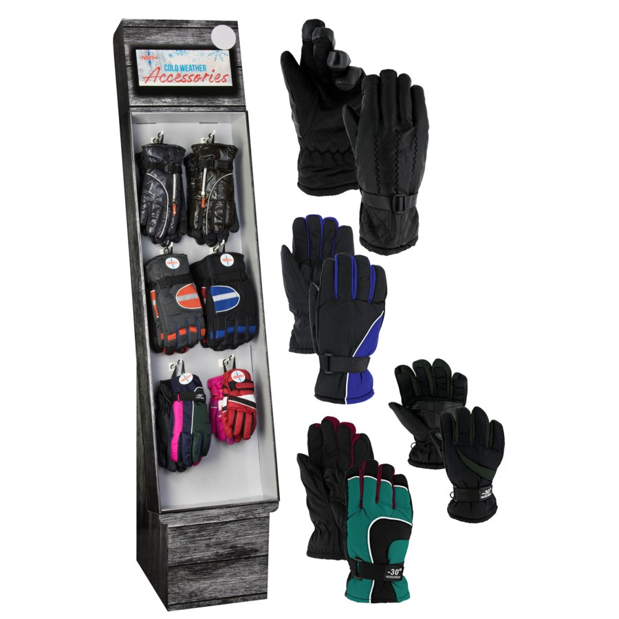 Ski Gloves Display - 48pcs