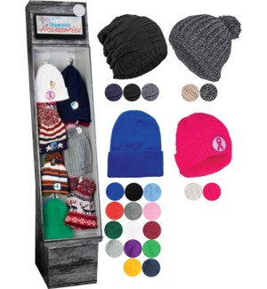Beanie Hat Display - 48pcs
