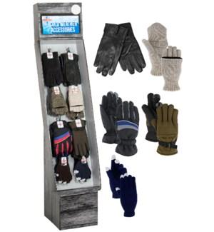 Men's Gloves Assortment Display - 48pcs