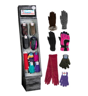 Women's Gloves Assortment Display - 54pcs