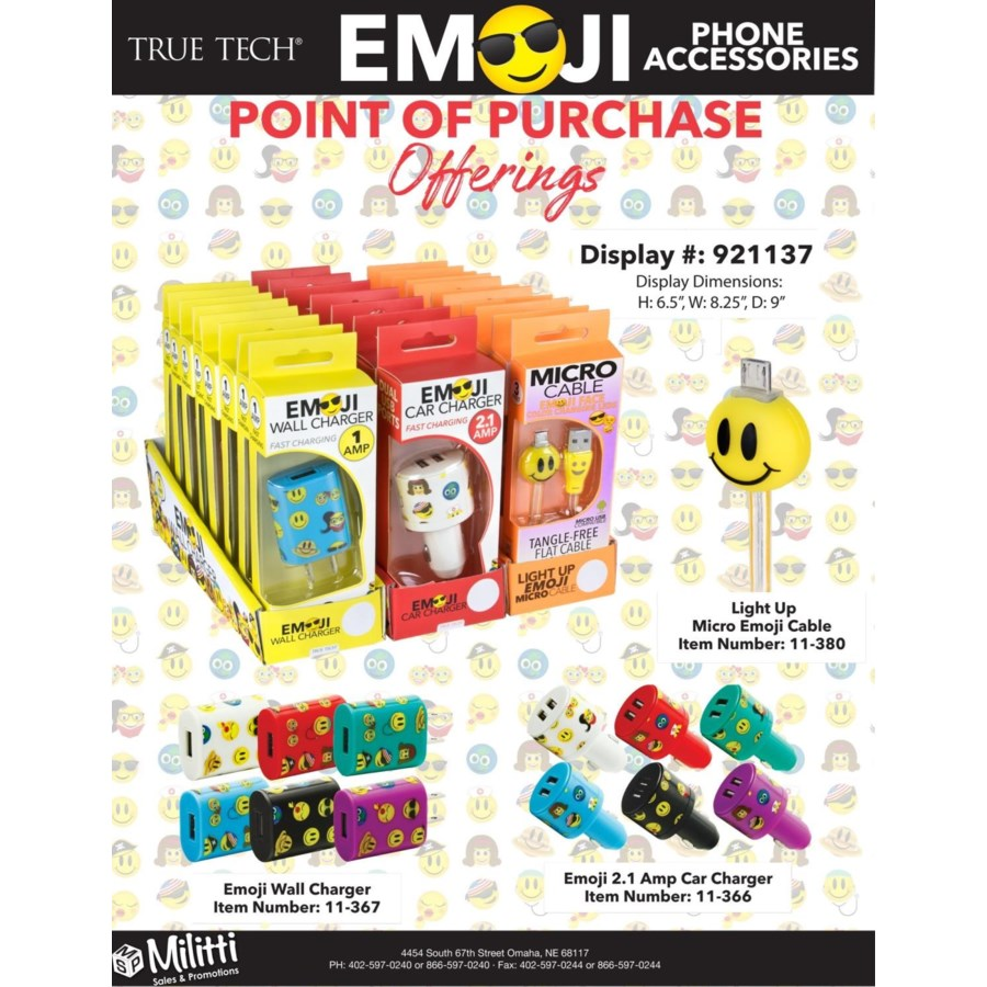 EMOJI Mobile Phone Accessory PDQs - 29 pcs