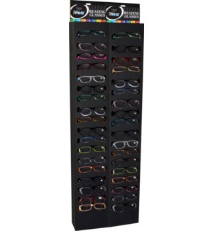 iWear Readers with Black End Cap Display - 144pcs