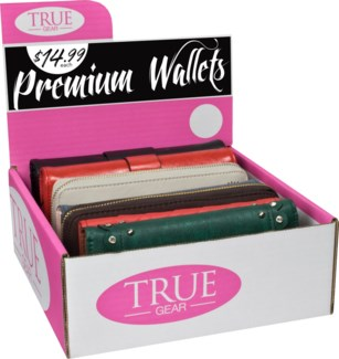 Premium Women's Wallets 6 pc Counter Display