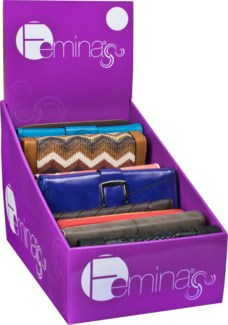 Premium Women's Wallets 24 pc Counter Display
