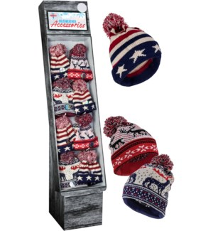 Ugly X-Mas / USA Beanie Shipper - 48pc