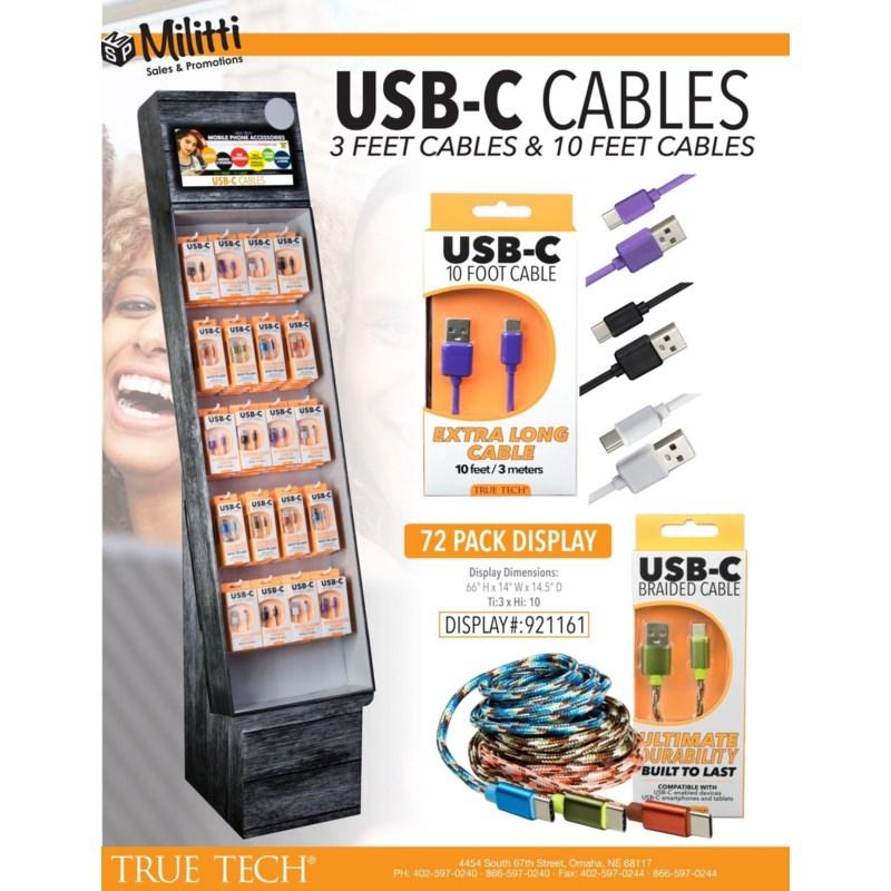 USB-C™ Cable Shipper - 72pcs