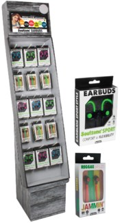 Assorted Soulzone Earbuds Shipper - 48pcs