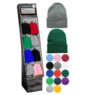 Solid Colored Beanie Shipper - 96pcs
