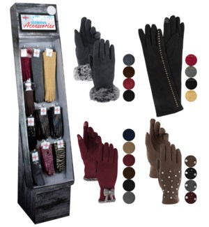 Fancy Women's Texting Gloves Shipper - 48pcs