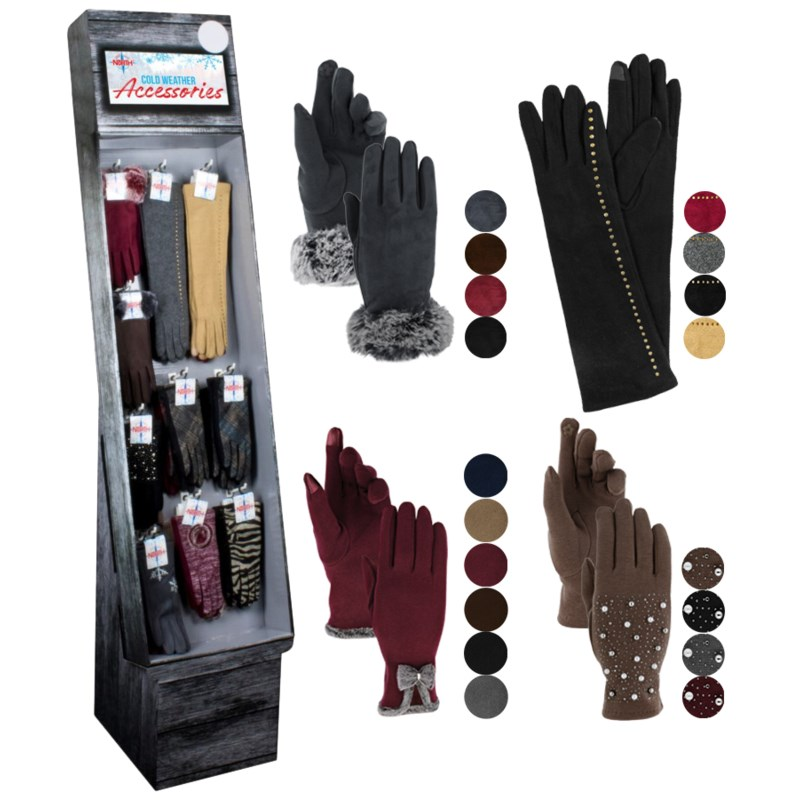 Fancy Women's Texting Gloves Shipper - 48pcs