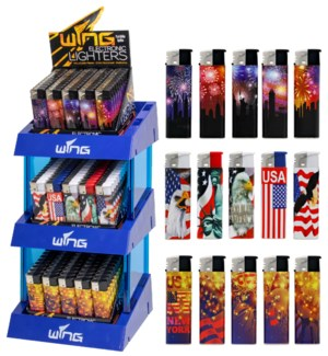 Customized Electronic Lighters - 3 Tier Display