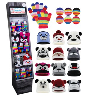 Kid's Hats & Gloves Shipper - 96pcs