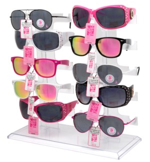 Breast Cancer Awareness Sunglasses Counter Display - 24pcs