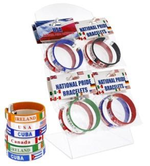 National Pride Bracelets Counter Display - 36pcs