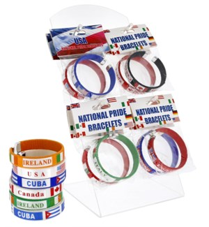 National Pride Bracelets Counter Display - 36pcs