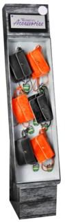 Stadium Accessories Orange/Black Purse Shipper - 24pcs