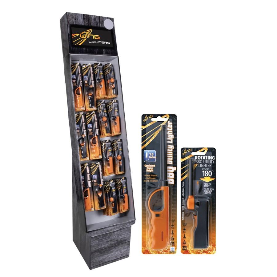 BBQ Utility Lighter Shipper - 144pcs