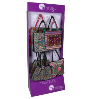 Embroidered Purse Endcap Display - 24pcs