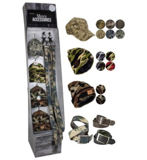 Camo Accessories Shipper - 48pcs