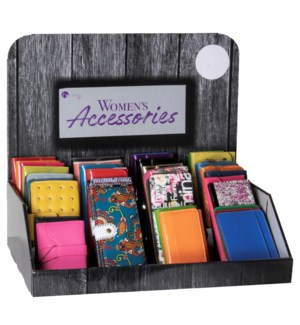 Spring/Summer Women's Wallets Counter Display - 24pcs