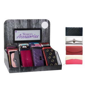 Fall Women's Wallets Counter Display - 24pcs