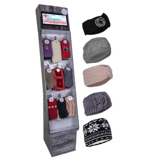 Fashion Ear Warmer/Headband Assortment Display - 84pcs