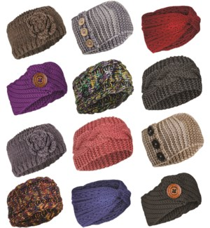Classic Ear Warmer Mix - 12pcs
