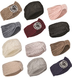 Fashion Ear Warmer Mix - 12pcs