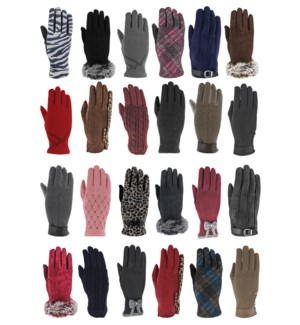 Women's Fashion Gloves Mix - 24pcs