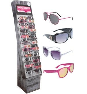 Breast Cancer Awareness Sunglasses Shipper - 48pcs