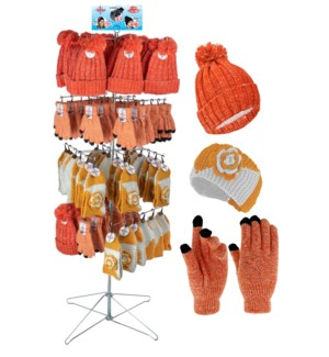Orange & White Team Spirit Wire Floor Display - 96pcs