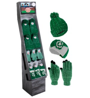Green & White Team Spirit Shipper - 48pcs