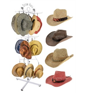 Straw Hats Floor Display - 36pcs