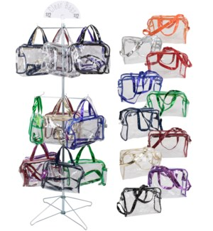 Assorted Clear Handbags Wire Spinner - 48pcs