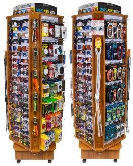 Sunglasses & Tech Assortment - Wood Floor Display - 226pcs