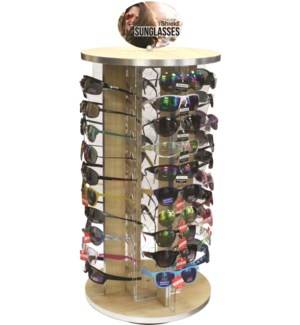iShield Assorted Sunglasses - Wooden Counter - 72pcs