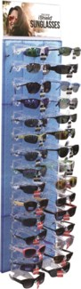 Assorted iShield Sunglasses on Blue Panel - 48pc