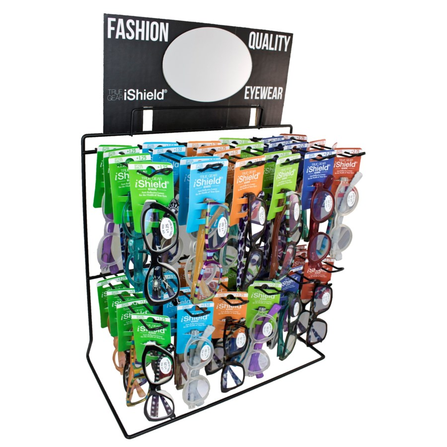 $14.99 iShield Readers - Wire Counter/Hanging Display - 36pcs