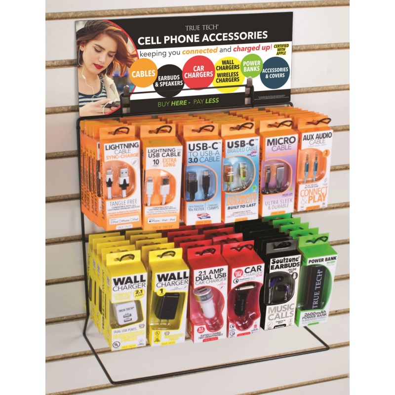Tech Assortment - Wire Counter/Hanging Display - 71 pcs