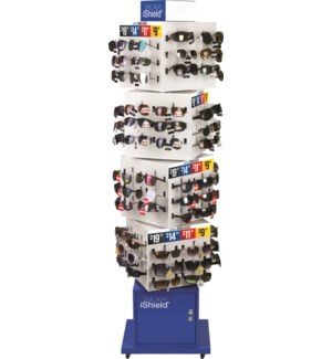 iShield Assorted Sunglasses -  Cube Floor Display - 114pc