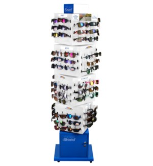 Polarized Sunglasses Modern Spinning Floor Display - 96pcs