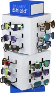 Black Tag Sunglasses on Counter Display - 72pc