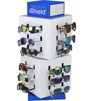 iShield Polarized Sunglasses - Cube Counter Display - 36pcs