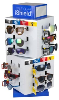 Black/Red/Gold Tag Sunglasses on Counter Display - 72pc