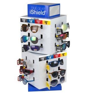 iShield Assorted Sunglasses - Cube Counter Display - 60pcs