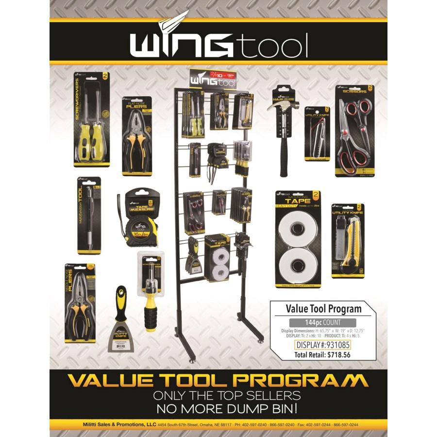 Wing Tools Floor Display - 144pcs