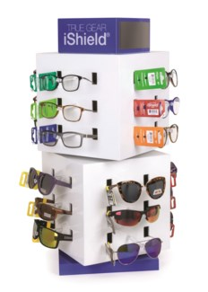 iShield Sunglasses/Readers - Cube Counter Display - 72pcs